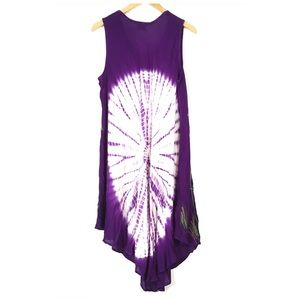 Beach Angels Dresses - Beach Angels Butterfly Tie Dye Dress Swim Cover Up